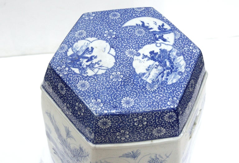 20th Century Chinese Export Style Ceramic Garden Stool For Sale