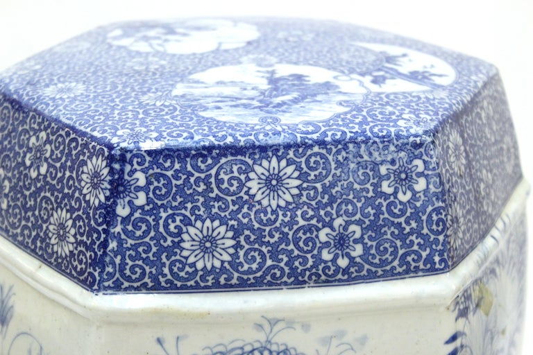 Chinese Export Style Ceramic Garden Stool For Sale 2