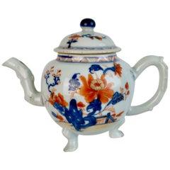 Chinese Export Teapot, Imari Flowers, Qianlong, circa 1750