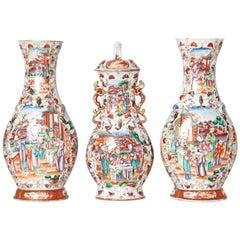 Chinese Export / Three-Piece Chinese Garniture Set