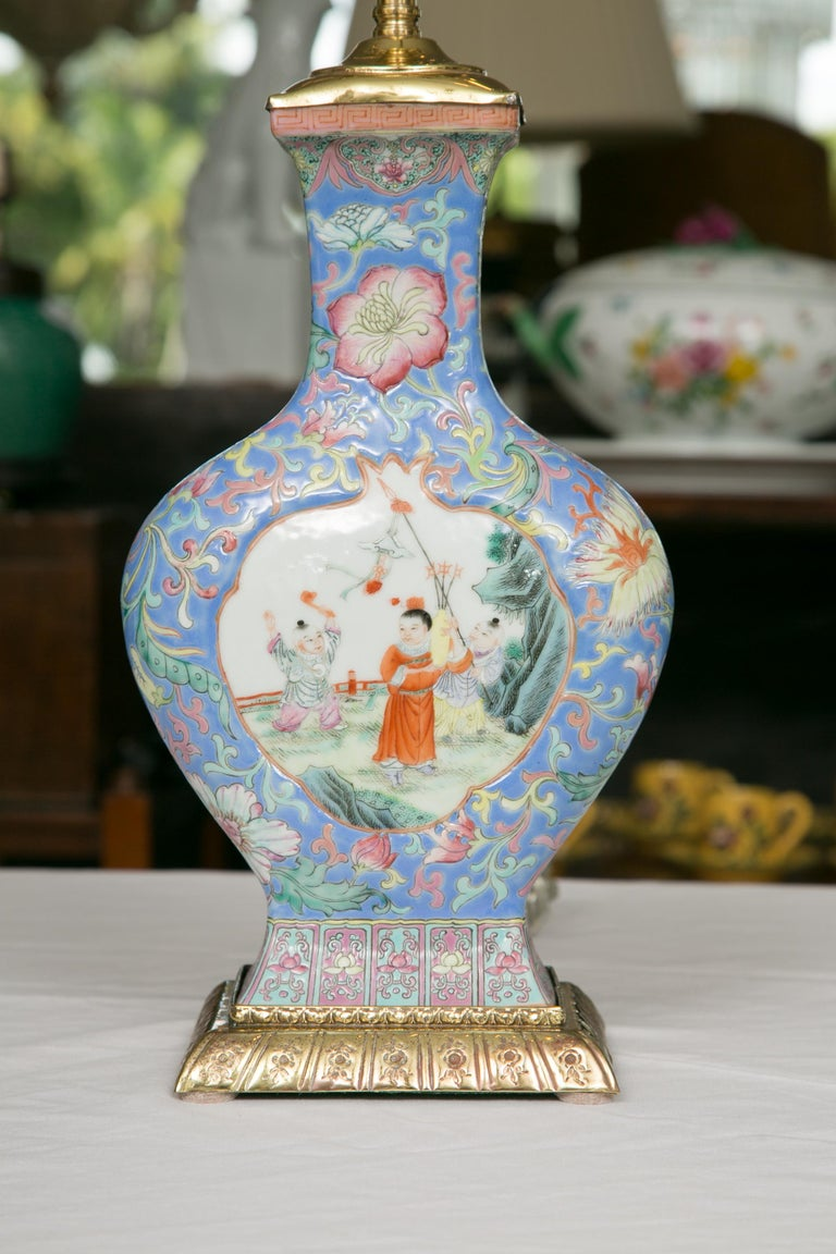 Chinese Export Vase as Table Lamp For Sale 4