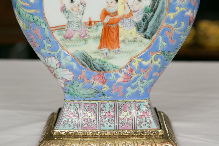 Chinese Export Vase as Table Lamp For Sale 1