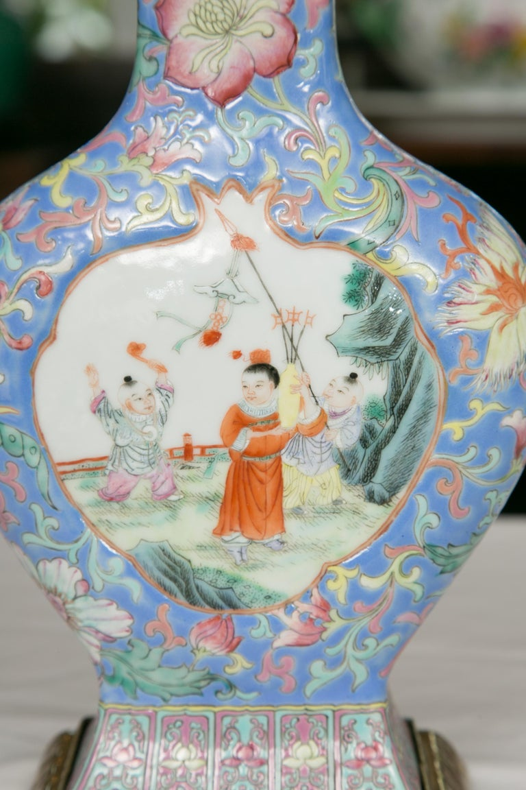 Chinese Export Vase as Table Lamp For Sale 3