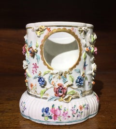 Chinese Export Watch Stand, Flower Encrusted, circa 1750