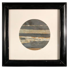 """Chinese Extraordinary Moon Light Space Planet """"Painting"""", Natural Stone"""