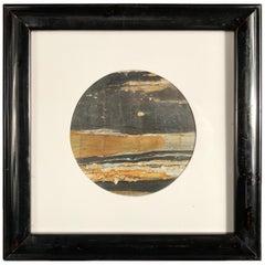 "Chinese Extraordinary Moonlight Over Horizon ""Painting"", Natural Stone"