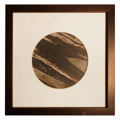 """Chinese Extraordinary Tilted Planet Earth """"Painting"""", Natural Stone"""