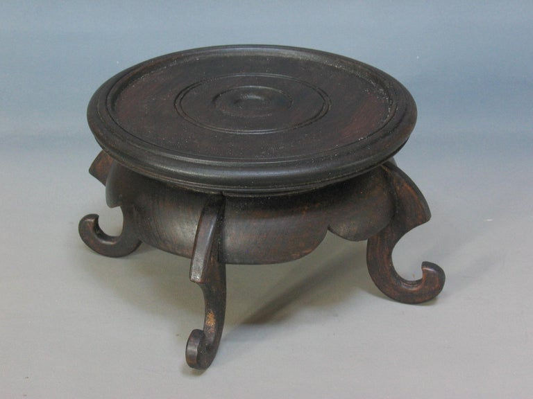 Chinese Famille Rose Baluster Jar and Cover on Stand For Sale 6