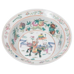 Chinese Famille Rose Bowl with Offering Fruits, c. 1900