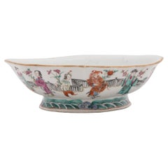 Chinese Famille Rose Footed Offering Bowl, c. 1850