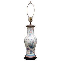 Chinese Famille Rose Vase Table Lamp
