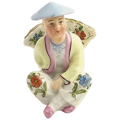 Chinese Figural Porcelain Menu Holder
