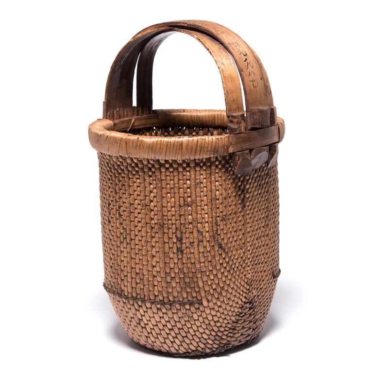 Rustic Chinese Fisherman's Basket, circa 1900 For Sale