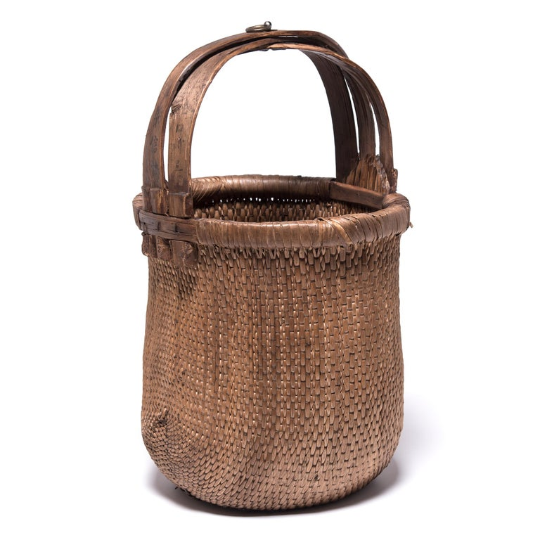 Hand-Woven Chinese Fisherman's Basket, circa 1900 For Sale