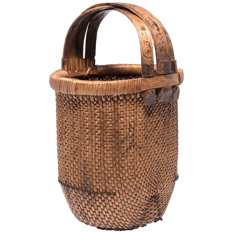 Chinese Fisherman's Basket, circa 1900 For Sale