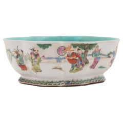 Chinese Footed Offering Bowl with Gathering of Immortals, c. 1900