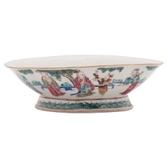 Chinese Footed Offering Bowl with Gathering of Immortals, c. 1850