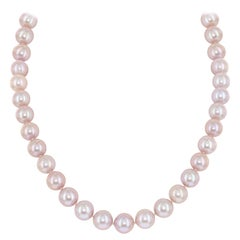Freshwater Natural Color Cultured 9-10mm Pearl Necklace with 14k Yellow Clasp