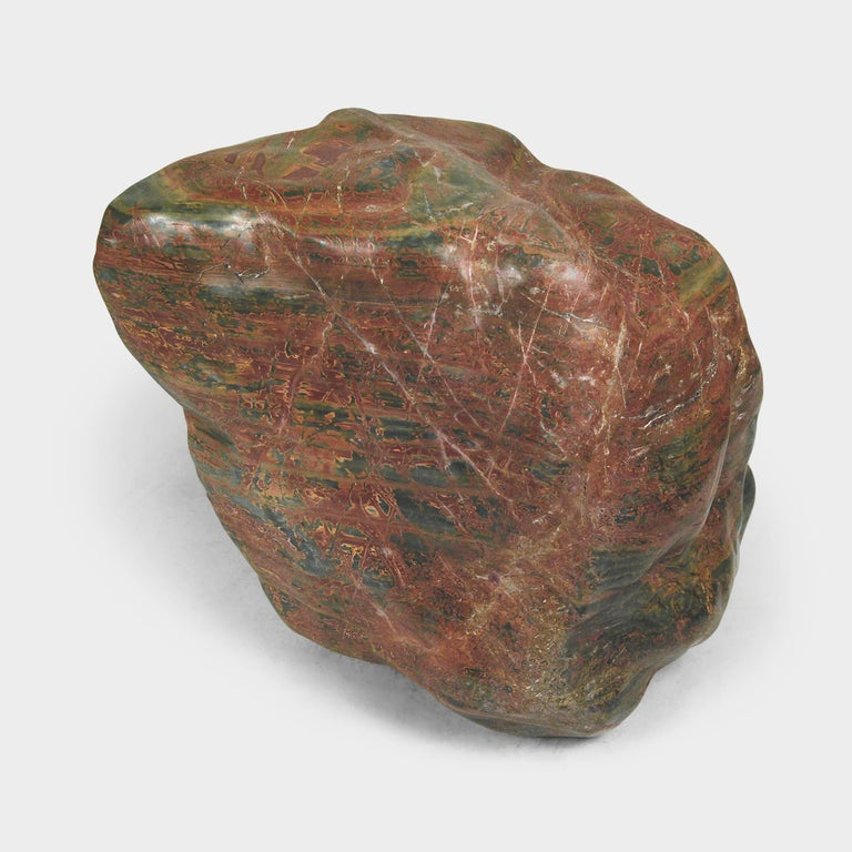 Polished Chinese Fugui Meditation Stone For Sale