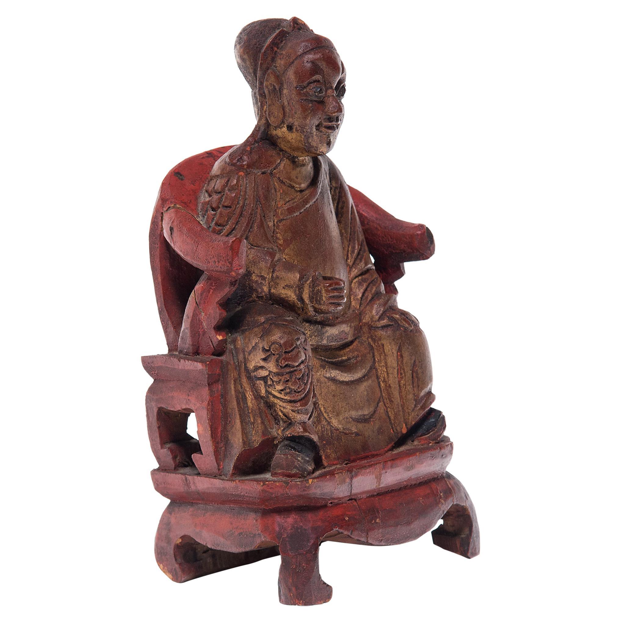 Chinese Gilt Ancestor Figure, c. 1900