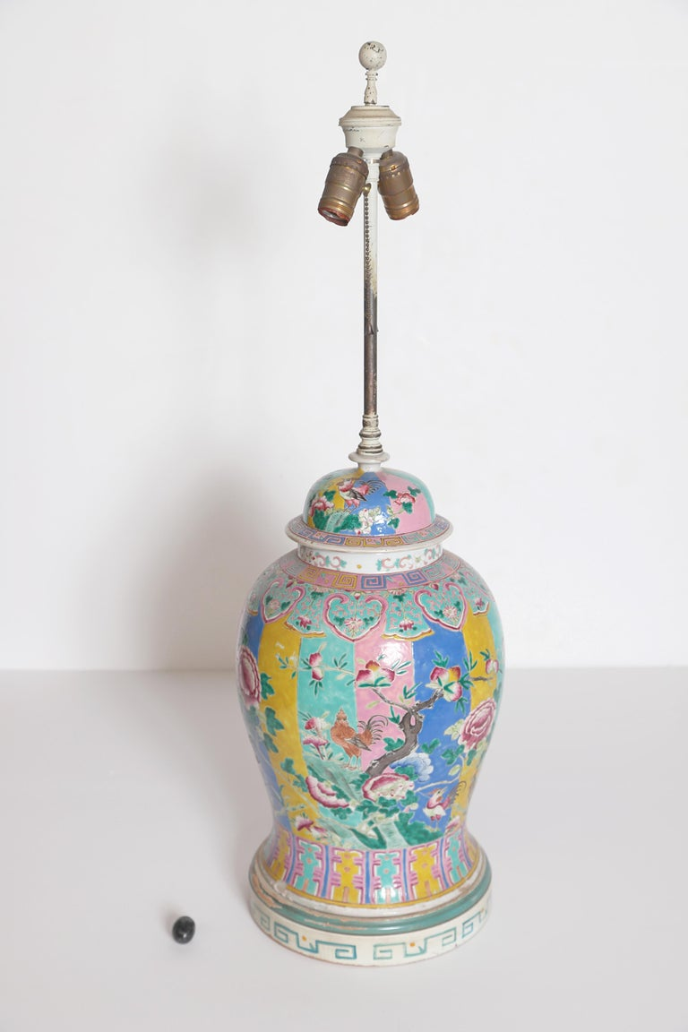 Chinese Ginger Jar as Custom Lamp For Sale 4