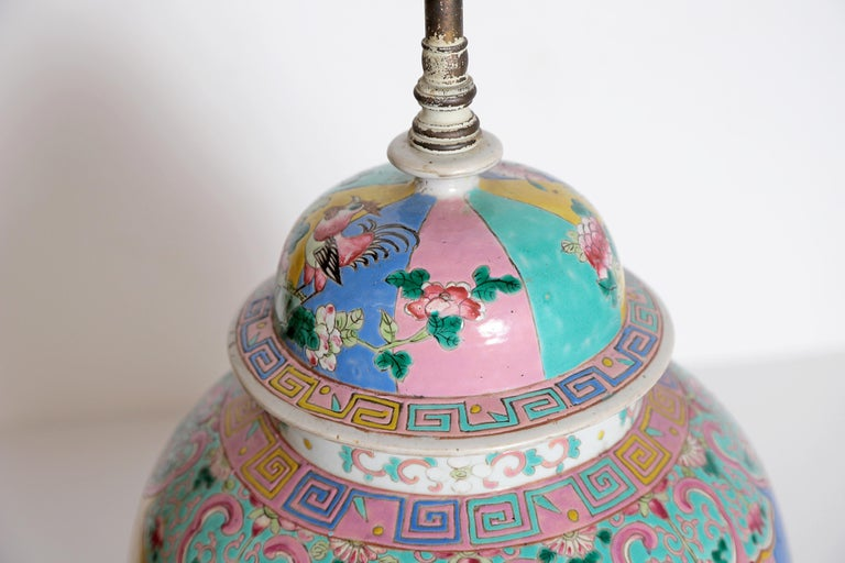 Chinese Ginger Jar as Custom Lamp For Sale 6