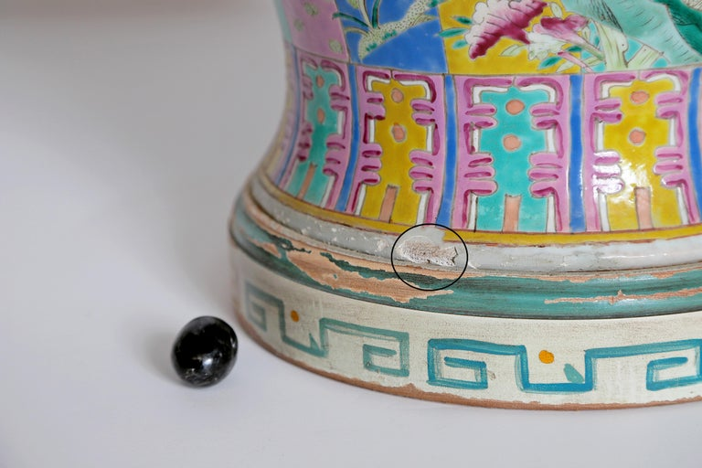 Chinese Ginger Jar as Custom Lamp For Sale 9
