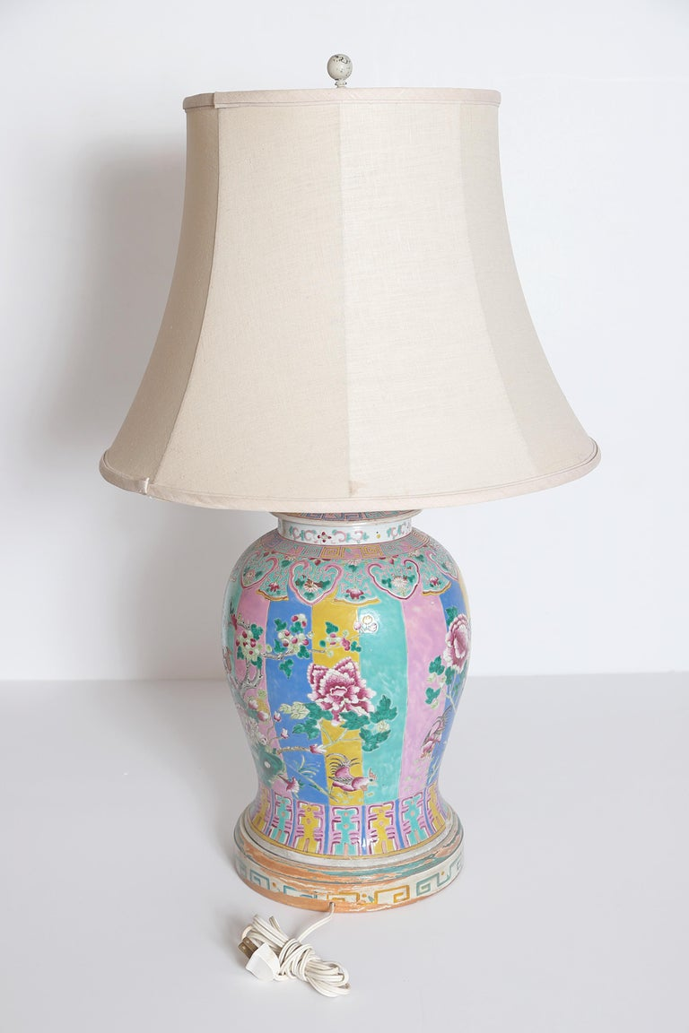 Chinese Export Chinese Ginger Jar as Custom Lamp For Sale