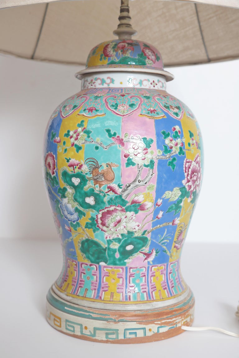 19th Century Chinese Ginger Jar as Custom Lamp For Sale