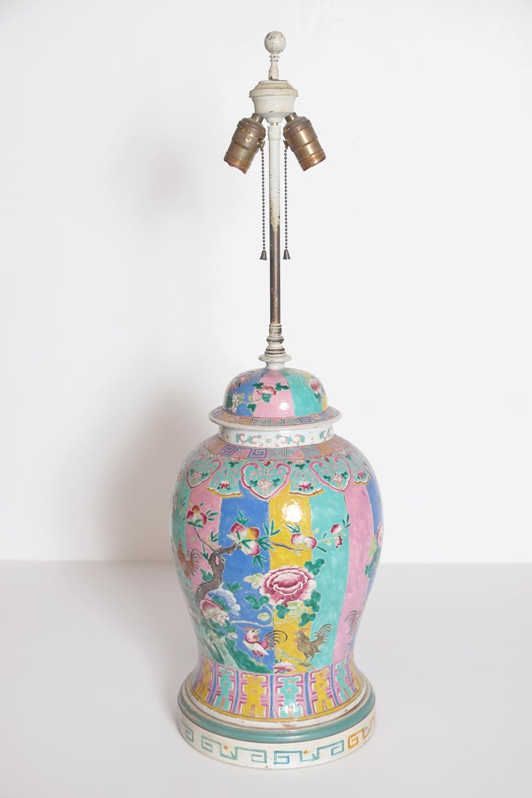 Chinese Ginger Jar as Custom Lamp For Sale 1