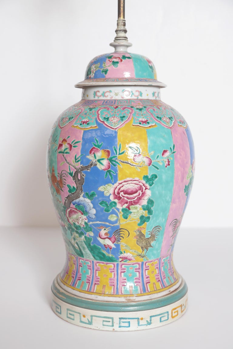 Chinese Ginger Jar as Custom Lamp For Sale 2