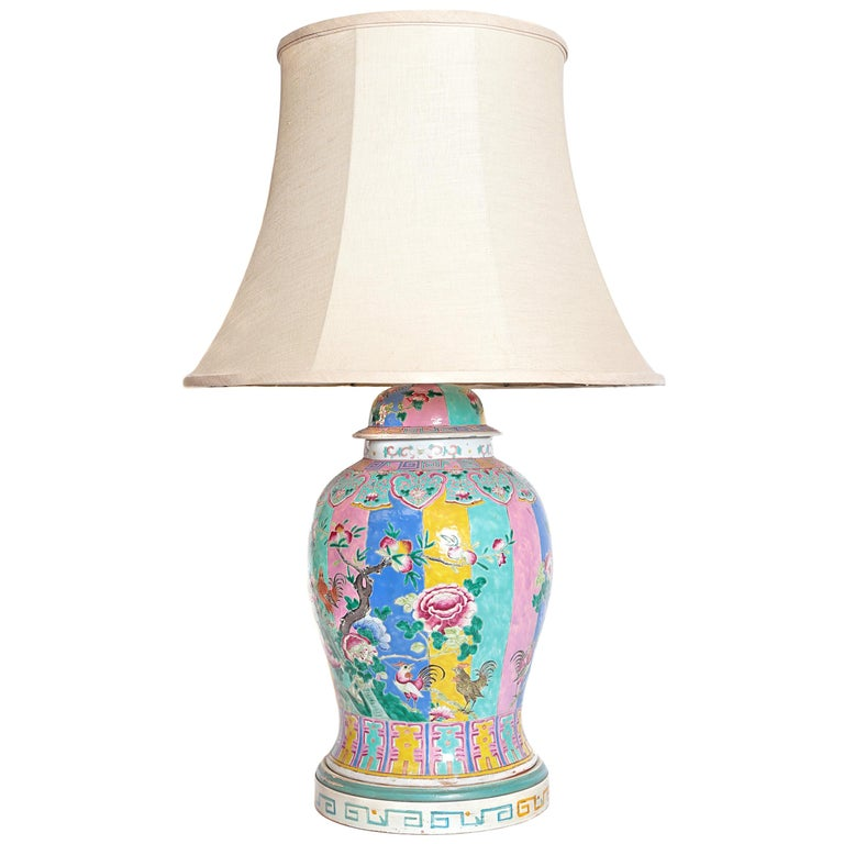 Chinese Ginger Jar as Custom Lamp For Sale