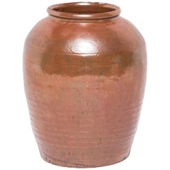 Chinese Glazed Ceramic Urn