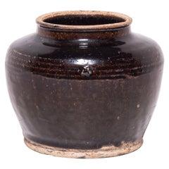 Chinese Glazed Kitchen Jar, circa 1900