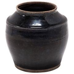 Chinese Glazed Pantry Jar, circa 1900