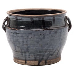 Chinese Glazed Vinegar Jar, circa 1900