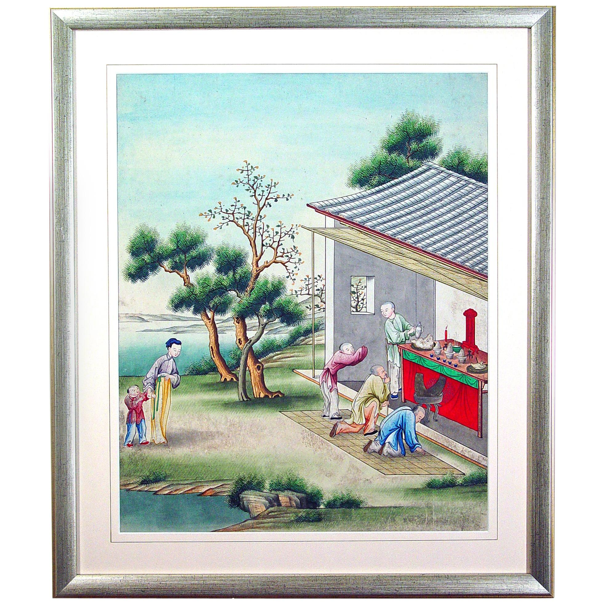 Chinese Gouache and Watercolor Painting, circa 1850-1880