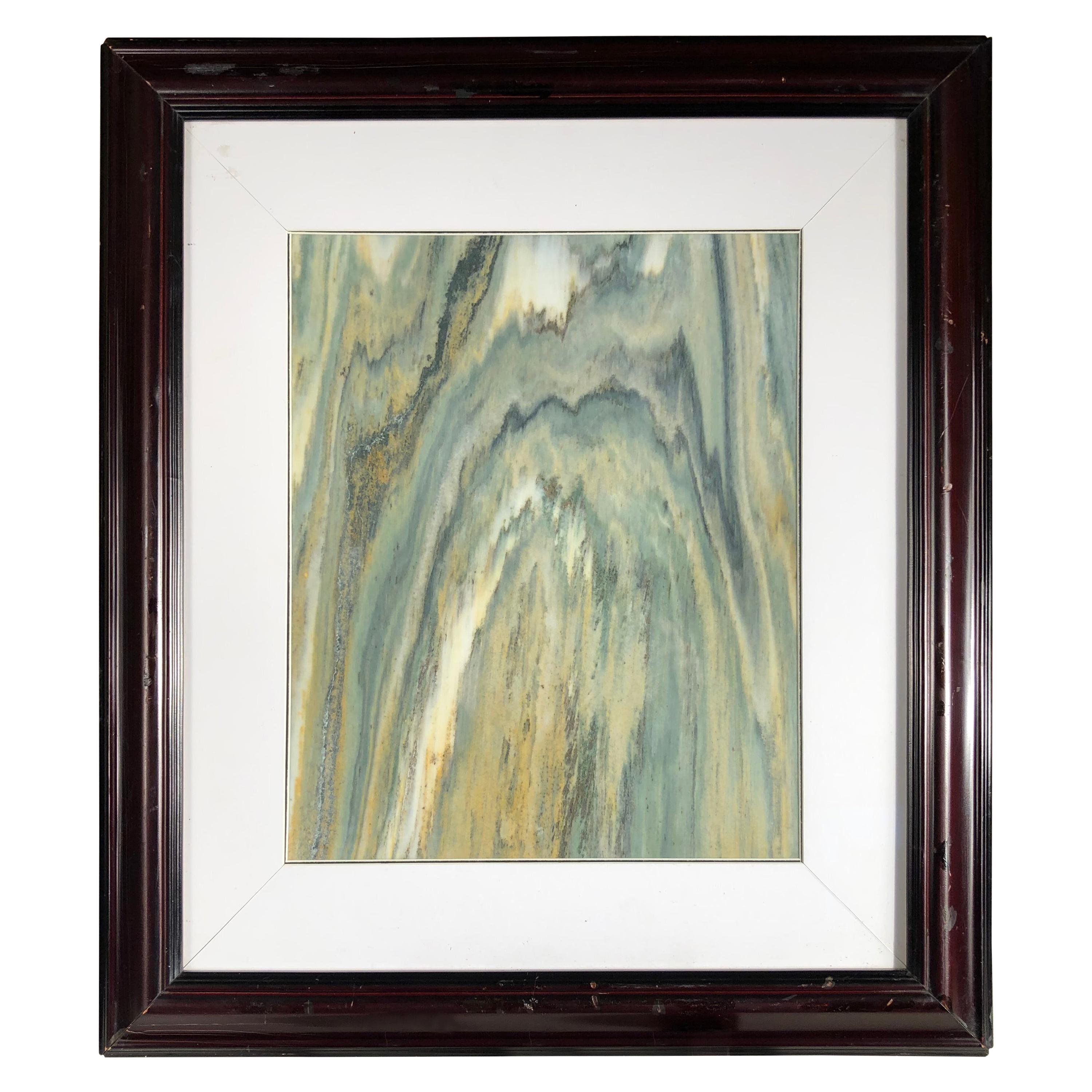 "Green Mountains Extraordinary Natural Stone ""Painting"""