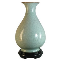 Chinese Guan Type Celadon Yuhuchunging Vase, Late 20th Century