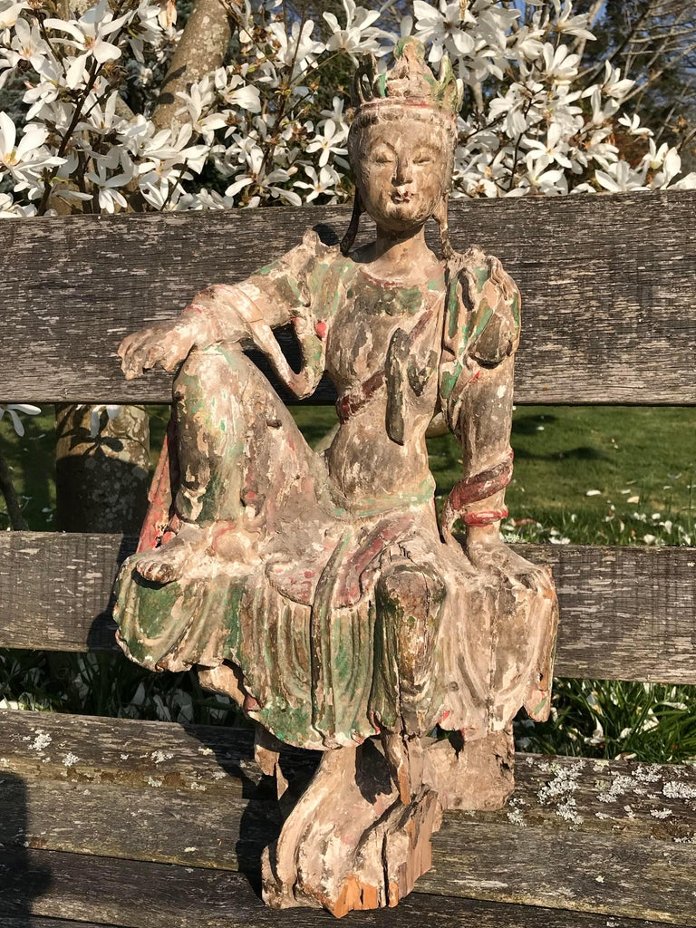Chinese Guan Yin Figure Early Ming Dynasty For Sale 1