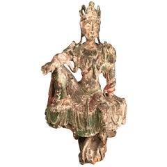 Chinese Guan Yin Figure Early Ming Dynasty