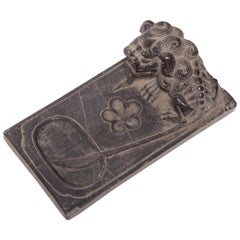 Chinese Guardian's Tail Inkstone, circa 1850