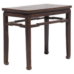Chinese Half Table with Humpback Stretchers, c. 1900