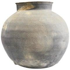 Chinese Han Dynasty Ash Glazed Pottery Jar 206BC-220AD