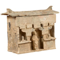 Chinese Han Dynasty Mingqi House Model with Its Inhabitants, circa 202 BC-200 AD