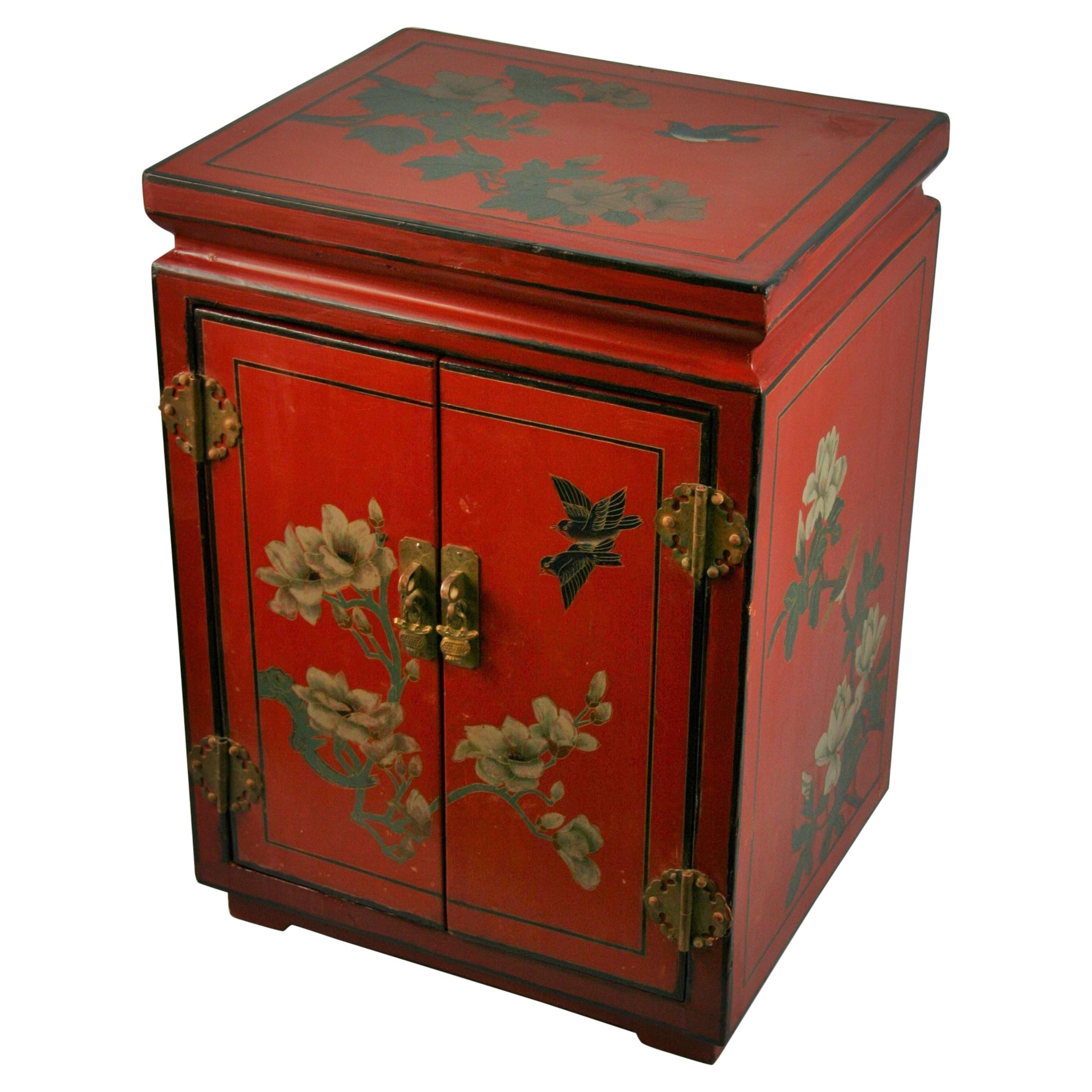 Chinese Hand Painted Cabinet/Side Table