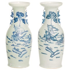 Chinese Hand Painted Porcelain Vases