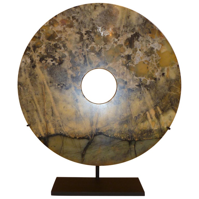 Asian Hard Stone Disc For Sale