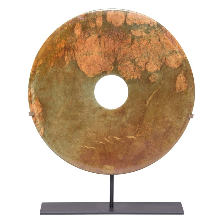 Chinese Hardstone Bi Disc For Sale
