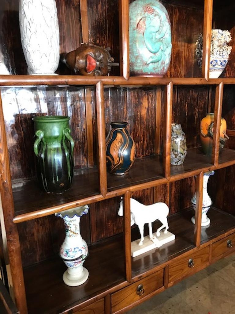 Chinese Hardwood Display Cabinet In Good Condition For Sale In Hudson, NY